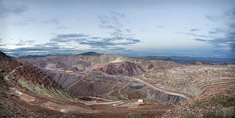 Copper mining in the United States - The Morenci Mine currently produces the most copper of any mine in North America.