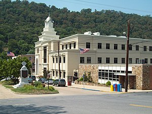 Morgan County, West Virginia - Image: Morgan County Courthouse Complex Jul 11