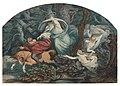 Moritz von Schwind, Ilustrace ke Goethově básni Erlkönig (1849), pero, tuš a akvarel 265 x 385 mm, sbírka kresby Národní galerie v Praze.jpg