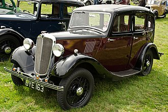 Morris Eight - 4-door 6-light saloon first registered June 1935