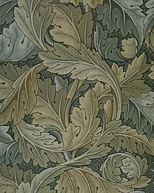 Carta disegnata da William Morris nel 1875