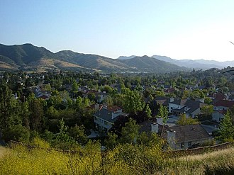 Agoura Hills, California - Western Agoura Hills from the hills north of Morrison Ranch