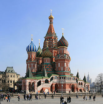 Russian architecture - Saint Basil's Cathedral (1482–95) is a showcase of Renaissance Russian (Tartarian) architecture.