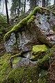 Mossy rock in Seinävuori Gorge in Tuusniemi, Finland, 2018 September.jpg