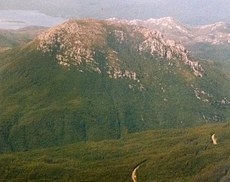 Mount Huxley (Tasmania) - Image: Mount Huxley from the air
