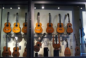 Outline of guitars - A variety of guitars.