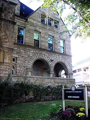 Longfellow, Alden & Harlow - Music Building at the University of Pittsburgh, built in 1884.