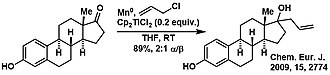 Bis(cyclopentadienyl)titanium(III) chloride - Example of Barbier-type reaction catalysed by Cp2TiCl