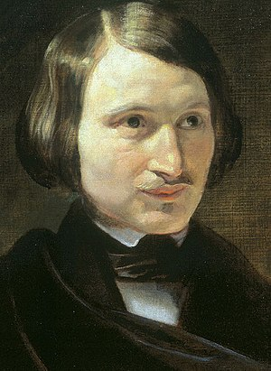 Nikolai Gogol - One of several portraits of Gogol by Fyodor Moller (1840)
