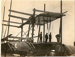 Curtiss NC-4 - The NC-4 being dismantled in June 1919 at Plymouth, England, before being shipped back to the U.S.A.