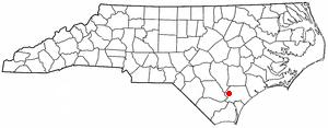 Atkinson, North Carolina - Image: NC Map doton Atkinson