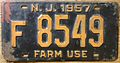 NEW JERSEY 1957 -FARM USE LICENSE PLATE - Flickr - woody1778a.jpg