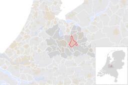 Locatie van de gemeente Zeist (gemeentegrenzen CBS 2016)