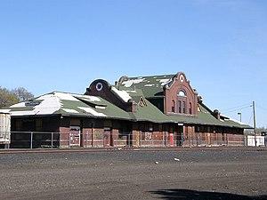 WASA Studio - Northern Pacific Railway depot overview, Ellensburg, Washington