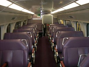 NSW TrainLink V set - Bush Plum interior introduced in July 2013
