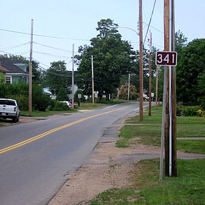 Nova Scotia Route 341 - Start of NS Route 341 in Kentville, Nova Scotia
