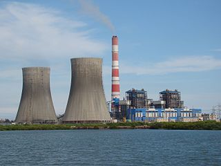 Coal-fired power station facility that converts coal into electricity