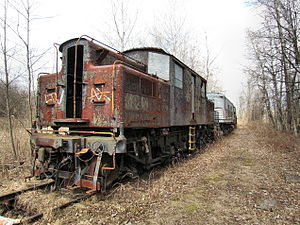 New York Central S-Motor - The original S-Motor, former No. 6000, awaiting restoration south of Albany, NY in 2012.
