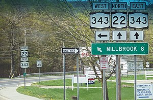 New York State Route 343 - Image: NY 22 and NY 343
