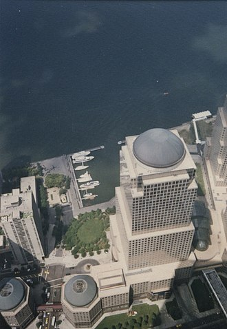 Brookfield Place (New York City) - The complex viewed from the World Trade Center in August 1992