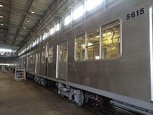 Nagoya Municipal Subway 5000 series - Image: Nagoya 5000 en Osaka Sharyo Kogyo (GCBA)