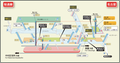 Nagoya station map Nagoya subway's Sakura-dori line 2014.png
