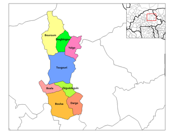 Nagbingou Department location in the province