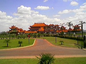 Buddhism in South Africa - The Nan Hua Temple Complex, near Johannesburg.