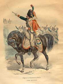 Cheval d/'attelage pour condu... Lieutenant des chasseurs de la Garde Impériale