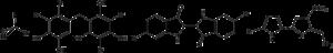 Organobromine compound - Structure of some naturally-occurring organobromine compounds.  From left: bromoform, a brominated bisphenol, dibromoindigo (Tyrian purple), and the antifeedant tambjamine B.