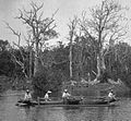 Natives and canoe (2 of 2), Ron-Kite Village, Kite Harbor, Ponape (1899-1900).jpg