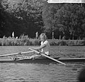 Nederlandse roeikampioenschappen op Bosbaan, Meike de Vlas wint skif 1000 meter, Bestanddeelnr 917-9934.jpg