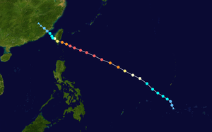 Timeline of the 2016 Pacific typhoon season - Track of Nepartak during early July