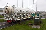 New Antares Rocket Rolls Out at NASA Wallops (26370640064).jpg