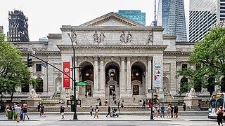 New York Public Library Main Branch Library in Manhattan, New York