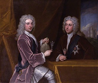 Royal Academy of Music (company) - The duke of Newcastle (left) and the Earl of Lincoln, brothers-in-law as painted by Godfrey Kneller, ca. 1721.