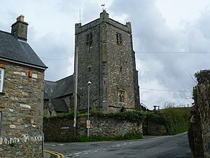 Newport, Pembrokeshire - The tower of St Mary's Church