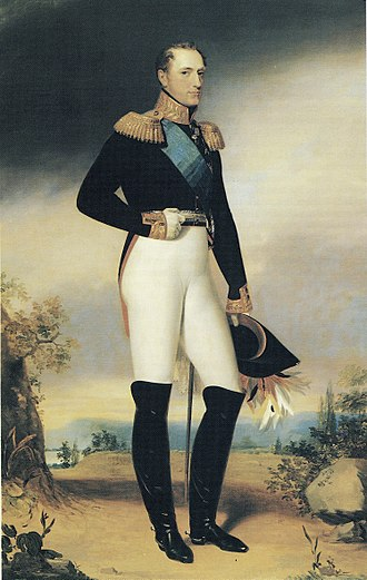 Nicholas I of Russia - Emperor Nicholas I of Russia, painted by George Dawe, 1828