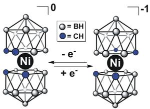 Carborane - Reversible redox chemistry of Ni(III)/Ni(IV) bis(dicarbollide) clusters