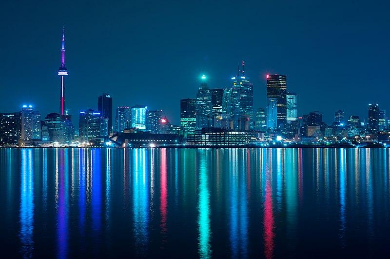 File:Night skyline of Toronto May 2009.jpg