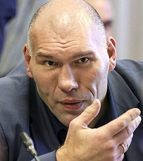 Nikolai Valuev Russian heavyweight professional boxer and politician