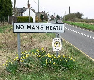 No Mans Heath, Warwickshire Human settlement in England