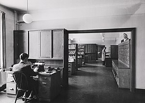 Librarian - Librarians at work, National Library of Norway, 1946