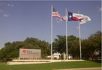 Texas Instruments - Entrance to Texas Instruments North Campus facility in Dallas, Texas