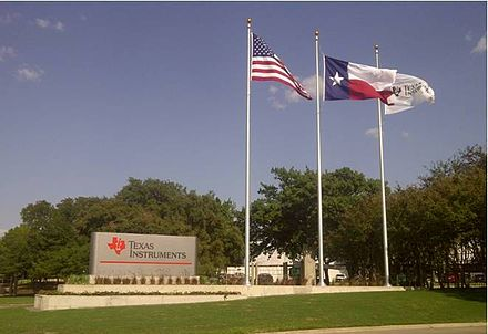 Entrance to Texas Instruments North Campus facility in Dallas, Texas North Campus Gate1.jpg