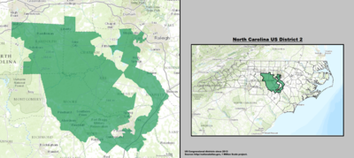 North Carolina's 2nd congressional district - since January 3, 2013.