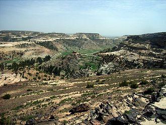 Atsbi Wenberta - Image: North of Atsbi Derra in the direction of Idaga Hamus