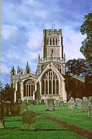 Northleach - Image: Northleach Church(Christine Matthews)1987