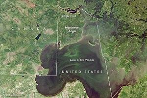 Northwest Angle - Image: Northwest angle Landsat