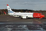 Norwegian (Karin Larsson Livery), EI-FJS, Boeing 737-8JP (32682847917).jpg